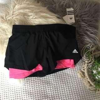 Pink & Black Adidas Shorts