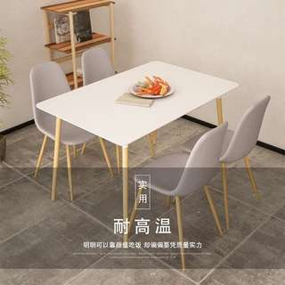 scandinavian set dining table + 4 chair