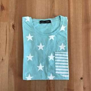 🚚 Life 8 滿版星星短T-shirt