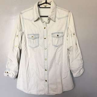 Light Washed Denim Button Up