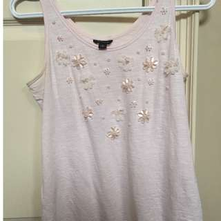 Anntaylor sequinned top
