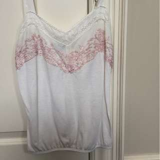 American Eagle lace inset top