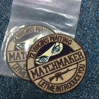 BNIP Match Maker Tactical Velcro Morale Badge ( Sand )