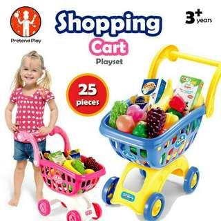 *FREE DELIVERY to WM only / Ready stock* Kids shopping cart as shown design/color. Free delivery applied for this item.