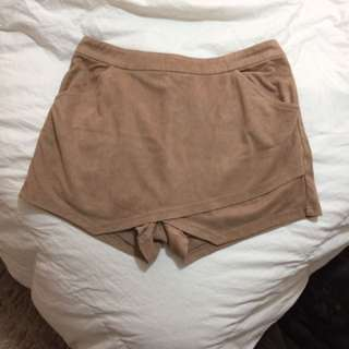 Suede Shorts/skirt