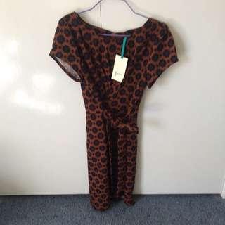BNWT 70s Style Work Dress Size 10