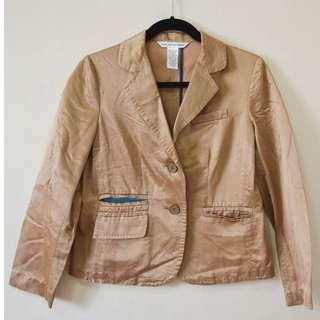 Diane von Furstenberg Brown Silk Jacket Size 2