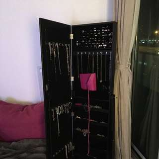 Beautiful Mirrored Jewelry Cabinet