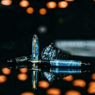 Blue Marble Fountain Pen