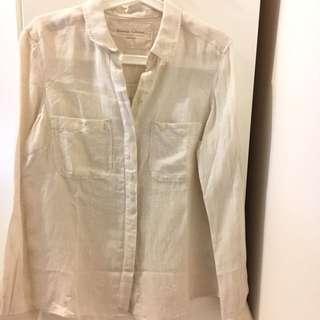 M&S Linen Long Sleeve UK12