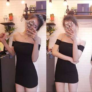 Fun_niki全新一字領連身洋裝