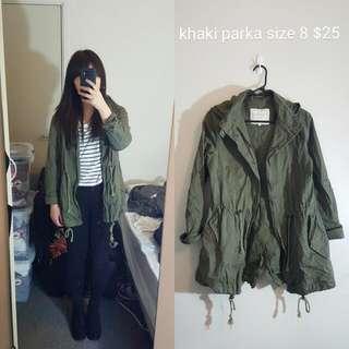 Khaki Parka Jacket