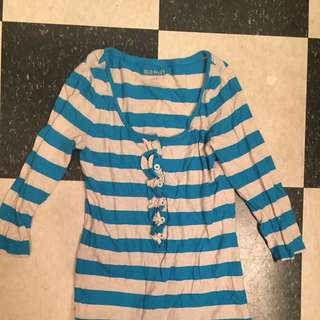 Old Navy Striped Blue Shirt