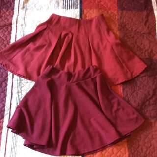 Burgundy/red wine Skirts