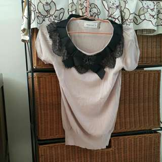 Knit Top Nude Colour