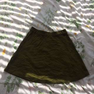 American Apparel Olive Green Skirt