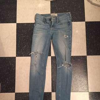 Abercrombie kids light blue jeans