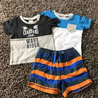 5. Tshirt(2)+shorts Set 0-3m