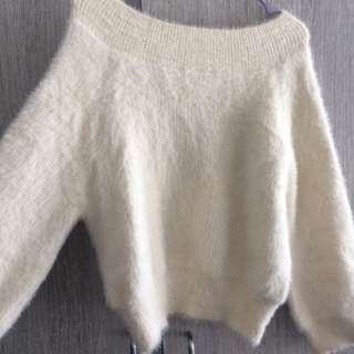 Super Fluffy Off Shoulder Christmas Sweater