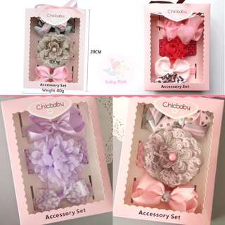 Korean baby girl hairband gift box