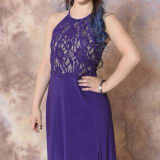 Laura Petite purple prom dress