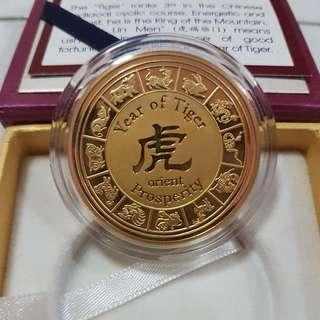 24k Gold (Zodiac - Tiger)