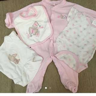 Bundle Of Baby Girls Newborn Set 0-3m