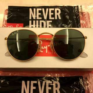 Rayban Ray Ban Round Rb3447 50mm Size Made in Italy