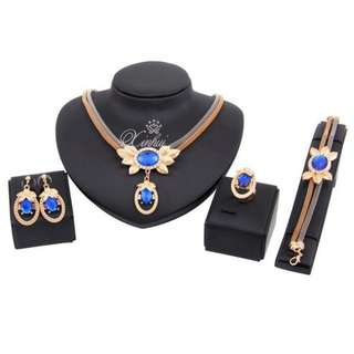 African Beads Jewelry Set Necklace18K Gold Plated Sale price