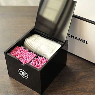 Instock Chanel Vanity Cotton Bud Pad Ball Storage Holder
