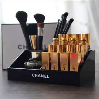 Instock Chanel Vanity Lipstick Brush Makeup Cosmetics Storage