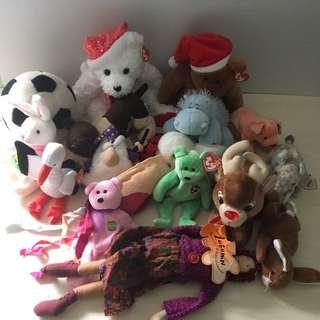 Stuffed Animals. TY Beanie Baby's