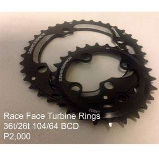 Race Face 2x Chainrings