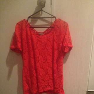 Red Rose Design Felt Top
