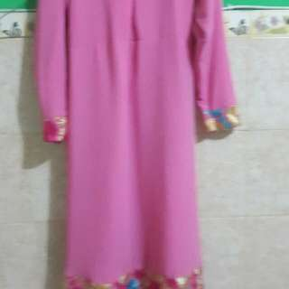 Baju Gamis Pink Dan Atasan Muslim Pink