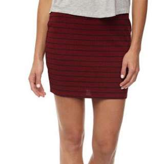 Cotton On Ribbed Mini Skirt Red Striped