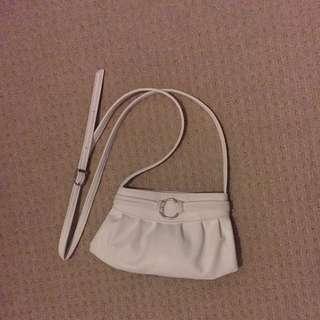 Small White Shoulder Sling Bag