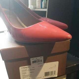 Coach Pink Heels 鞋 size38 $400 Now , OP $2100,80% New  Chanel Celine Cabas Pandora Miu 2.55 Flap Bag Balenciaga Lanvin