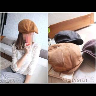 正韓 🇰🇷north 鴨舌帽 帽童帽 小偷帽 畫家帽 蓓蕾帽