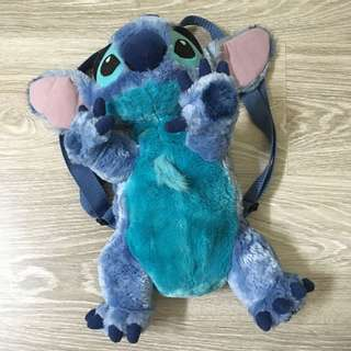 Lilo & Stitch plush backpack bag purse disneyland disney world soft stuffed alien