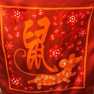 Hermes Red Orange Small Scarf