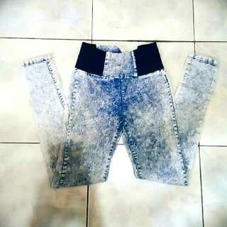 Highwaist Acid Wash Pants ♡
