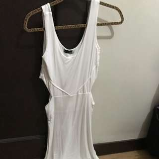 Coco Cabana White Body Hugging Dress