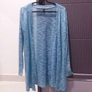 Blue n White Long Cardigan Outer