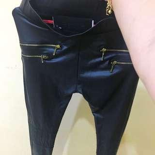bershka fake leather pants