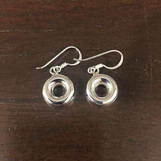 925 Silver Donut Earring