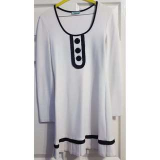 Black and white winter dress - size 10