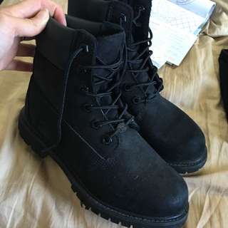 Woman's Black Timberlands
