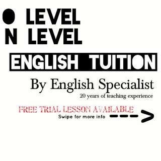 ENGLISH TUITION - FREE Trial Available
