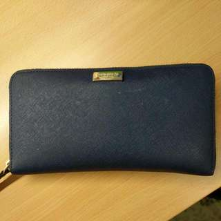 Kate Spade Saffiano Leather Wallet (Navy)